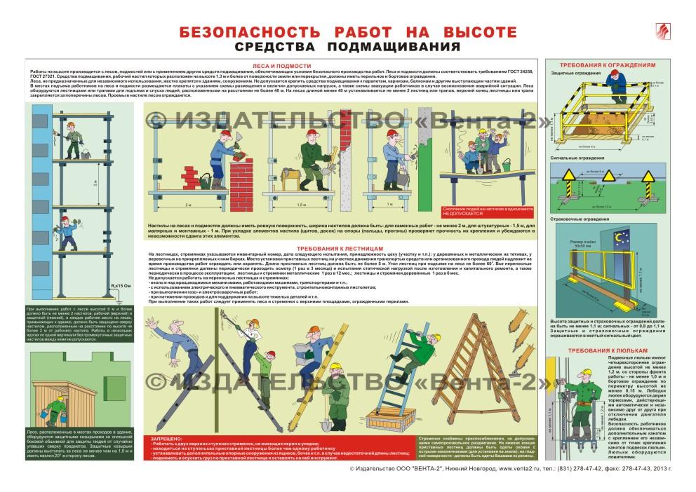 плакат работа на высоте по новым правилам букет держал форму
